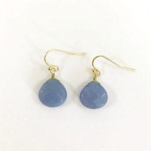 Oorbellen met edelstenen goud, blauw