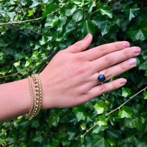 Ring met lapis lazuli goud
