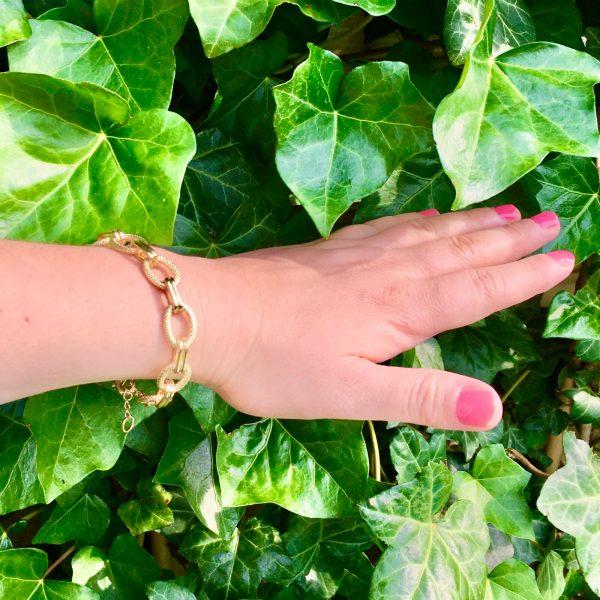 Schakelarmband statement armband goudkleurig
