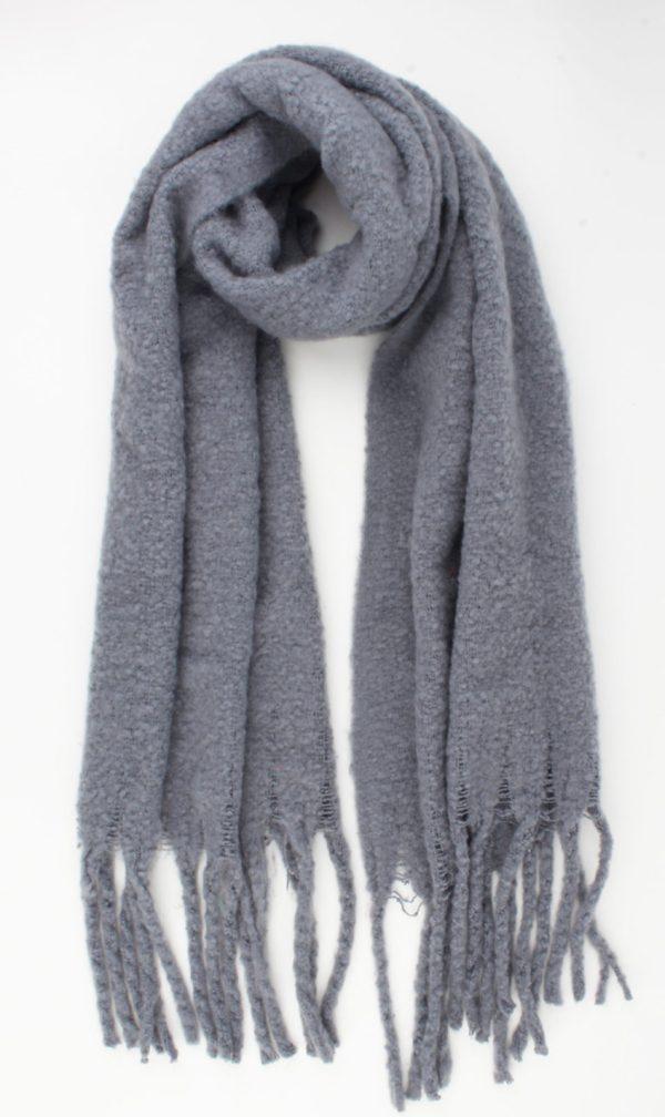Warme zachte sjaal grijs