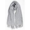 Zachte sjaal lichtgrijs