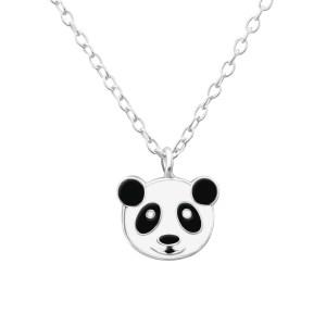 Zilveren kinderketting panda