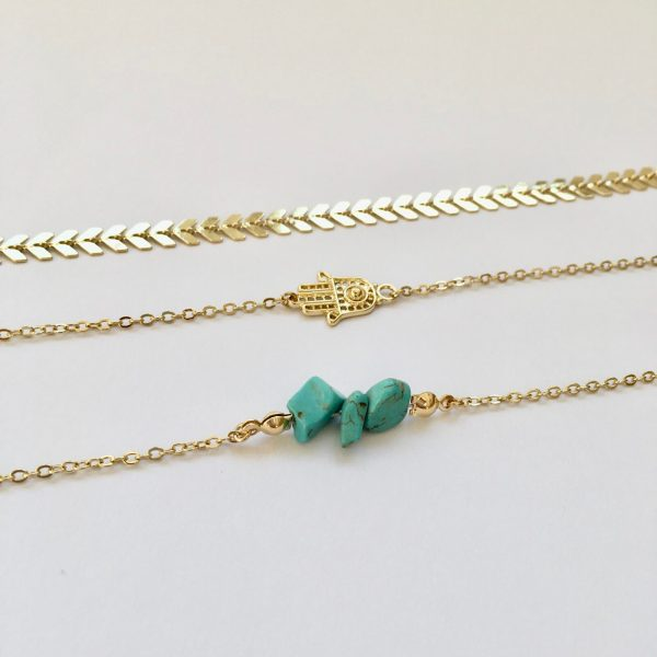 metalen armbanden edelsteen armband turkoois
