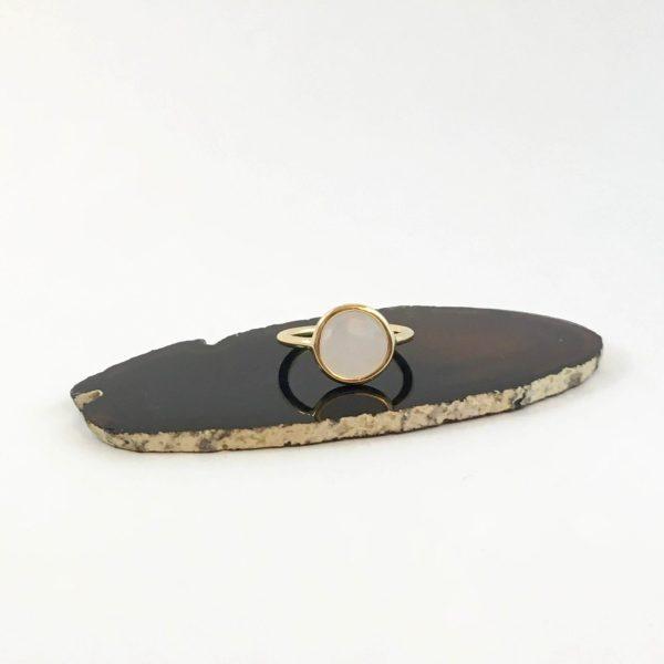 ring met rozenkwarts goud