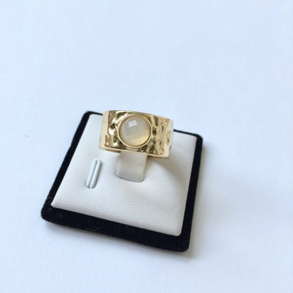 statement ring goud natuusteen