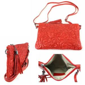 tasje voor uitgaan rood party bag messenger bag cross body