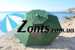 Надежный зонт Антиветер 3 метра с ветровым клапаном от сильнх ветров и углом наклона
