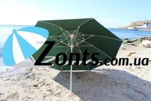 Прочный Садовый торговый зонт Антиветер 3 метра с двумя куполами от сильных ветров