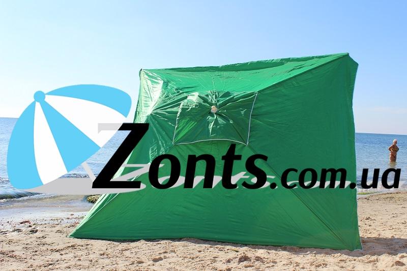 Купить садовый зонт для дачи сада 3на3 метра зеленый качественный