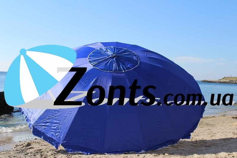 Купить торговый качественный зонт, а так же садовый пляжный для кафе и ресторанов 3,5 метра 16 спиц