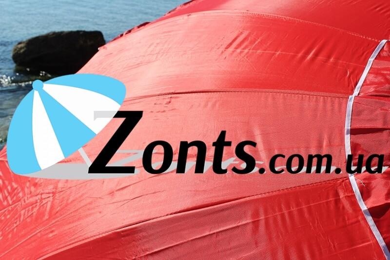 Плотный тент зонта 100% полистер с пропиткой и напылением