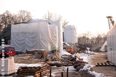 Hier entsteht die Eisbär-Anlage im Yukon Bay, Zoo Hannover, 25. Jänner 2010