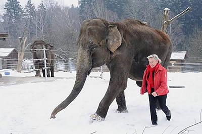 Mary mit Geli Maier, Winter 2011