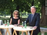 Lipizzaner im Wiener Burggarten, 7. Juli 2014