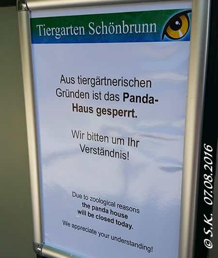 Pandahaus gesperrt