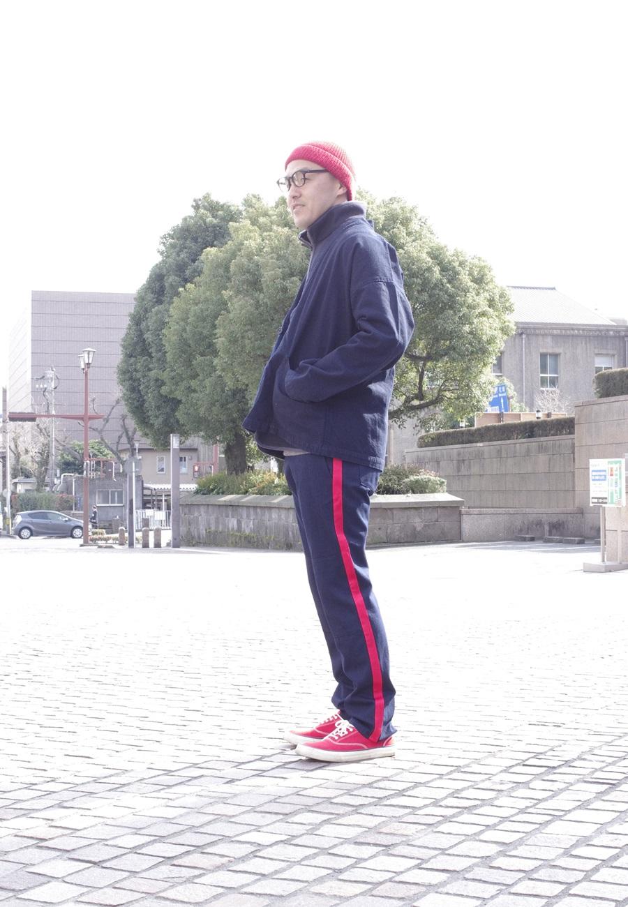 BLUE BLUE JAPAN 700066574 インディゴツイル サイドラインヒケシスリムパンツ[ONE]