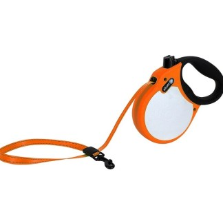 Автоматичен повод ALCOTT NEON S оранжев, лента 5 м - до 20 кг
