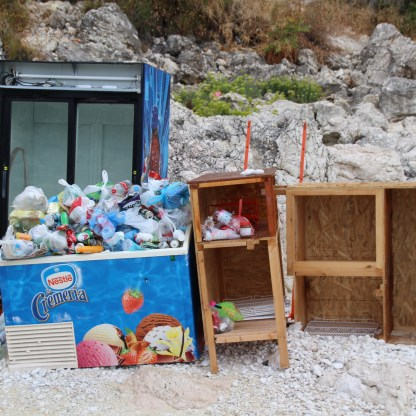 Ocean plastics to-be, seen by my parents on a recent trip to Greece