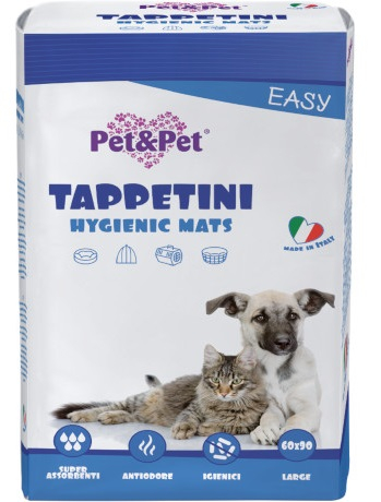 Pet&Pet - Tappetini Assorbenti Easy 60x90cm. 10pz