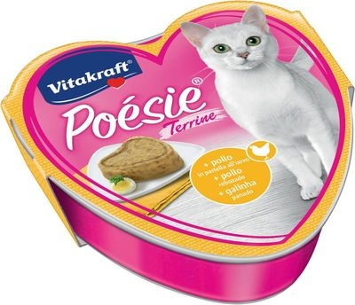 Vitakraft - Poesie Terrine Pollo in pastella all'uovo. 85 g