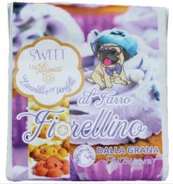 Pura Natura – biscotto Fiorellino al farro glassato con lavanda e vaniglia