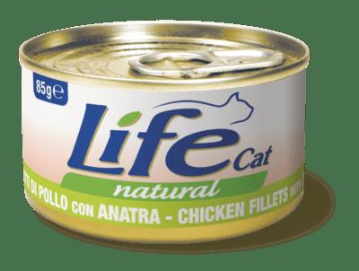 Life Cat Natural - Umido Pollo Anatra. 85gr