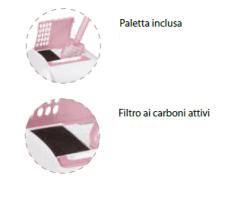 Imac - Toilette Lettiera chiusa ad angolo Ginger per Gatti. 52x52x44,5 cm