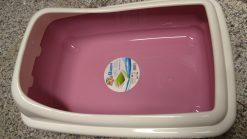 Croci - Toilette Birba con Bordino. Colore rosa. Dim 56x39x21,5 cm
