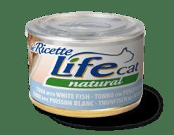 Life Cat Ricette - Umido Tonno Pesce Bianco. 150gr