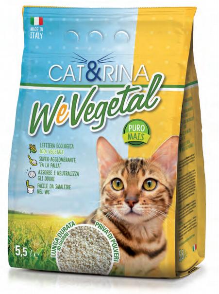 Cat&rina – Lettiera We Vegetal in Mais. 5.5L