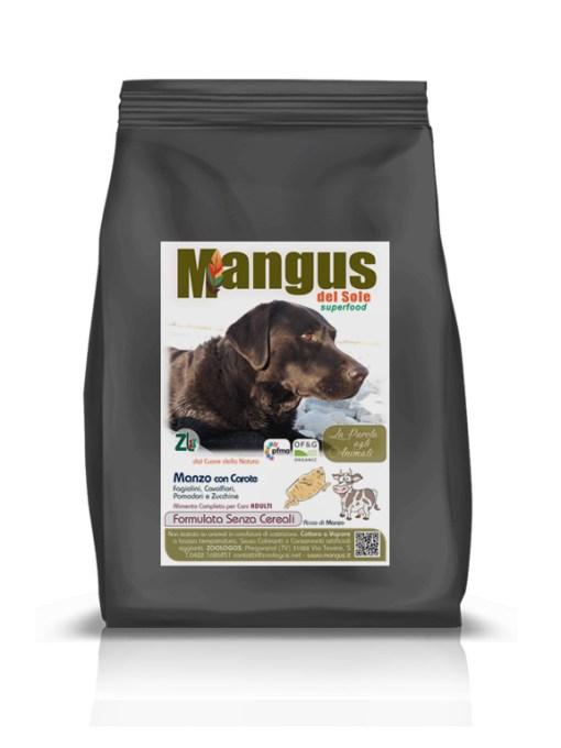 Mangus del Sole - Superfood Dog Grain Free Manzo. 2kg