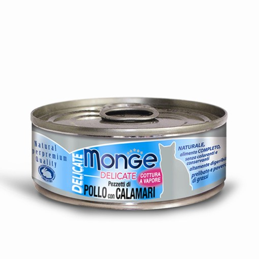 Monge - Cat Delicate Pollo con Calamari 80gr