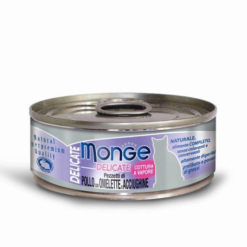 Monge - Cat Delicate Pollo Omelette Acciughe 80gr