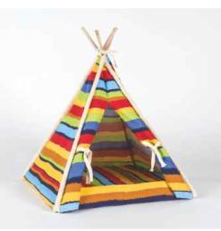 Vitakraft - Tenda indiana righe multicolore. 45x45x56 cm
