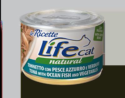 Life Cat Ricette - Umido Tonno e Pesce Azzurro. 150gr