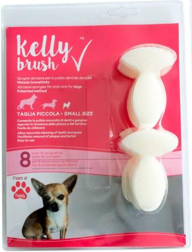 Kelly Brush - spugne abrasive per la pulizia dentale dei cani. 8 paia taglia piccola