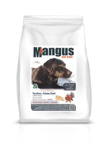 Mangus - Dog Grain Free Large B. Tacchino Patata Dolce. 2Kg