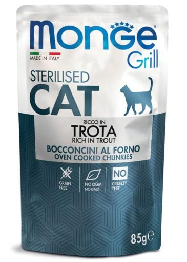 Monge - Cat Buste Bocconcini in Jelly con Trota 80gr