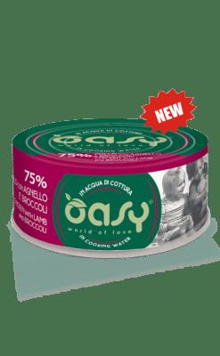 Oasy - Umido Cat More Love - Pollo con Agnello e Broccoli. 70gr
