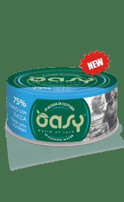 Oasy - Umido Cat More Love - Tonno con Zucca. 70gr