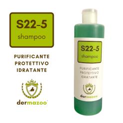 Dermazoo - Shampoo S22-5 purificante, idratante, protettivo con olio di canapa e neem. 300ml