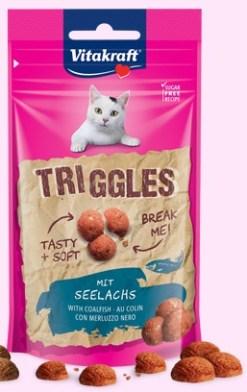Vitakraft - Cat snack teneri Triggles Merluzzo nero. 40gr