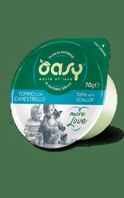 Oasy - Umido Cat More Love - Tonno con canestrello. Cup 80gr