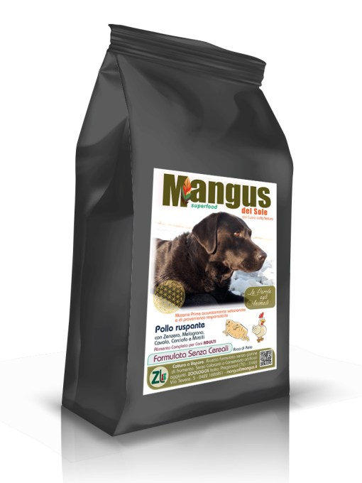 Mangus del Sole - Superfood Dog Grain Free Pollo Ruspante. 12kg