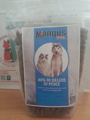 Mangus del Sole - Dog Snack grain free 80% delizie di pesce. 500gr