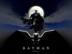 Batman on perch