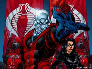 Destro and Baroness vs Cobra Commander's Mask