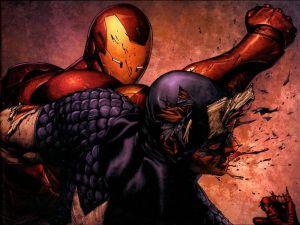 Iron Man Punching Captain America
