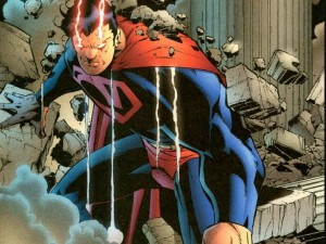 superman has red eyes