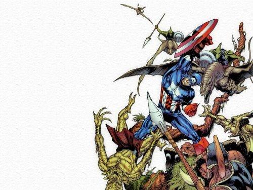 Captain America Vs Reptile People